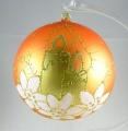 12 cm Kugel, Dekor Adventsgesteck, 1-fach