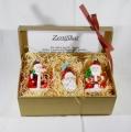 Geschenk-Set Weihnachtsmänner 3-teilig
