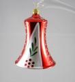 8 cm Glocke, rot/weiß gestreift, 6-fach